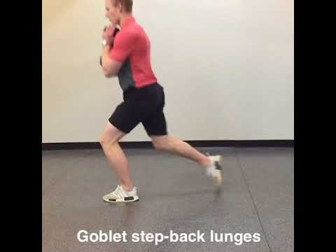 Goblet step back lunges