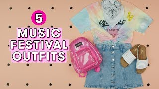 5 Music Festival Outfits | Style Lab