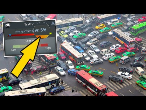Insane 5% Traffic...Enough to make a Grown Mayor CRY in Cities Skylines!