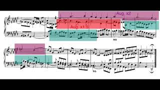 Analysis of D-Sharp Minor Fugue from The Well-Tempered Clavier, Book I (Augmentation Strettos)