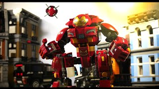 Avengers Age of Ultron Hulk vs Hulkbuster clip recreation lego stopmotion