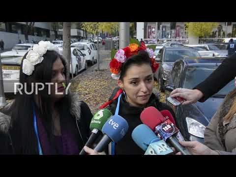 Spain: FEMEN activists face trial for topless protest in Madrid Cathedral