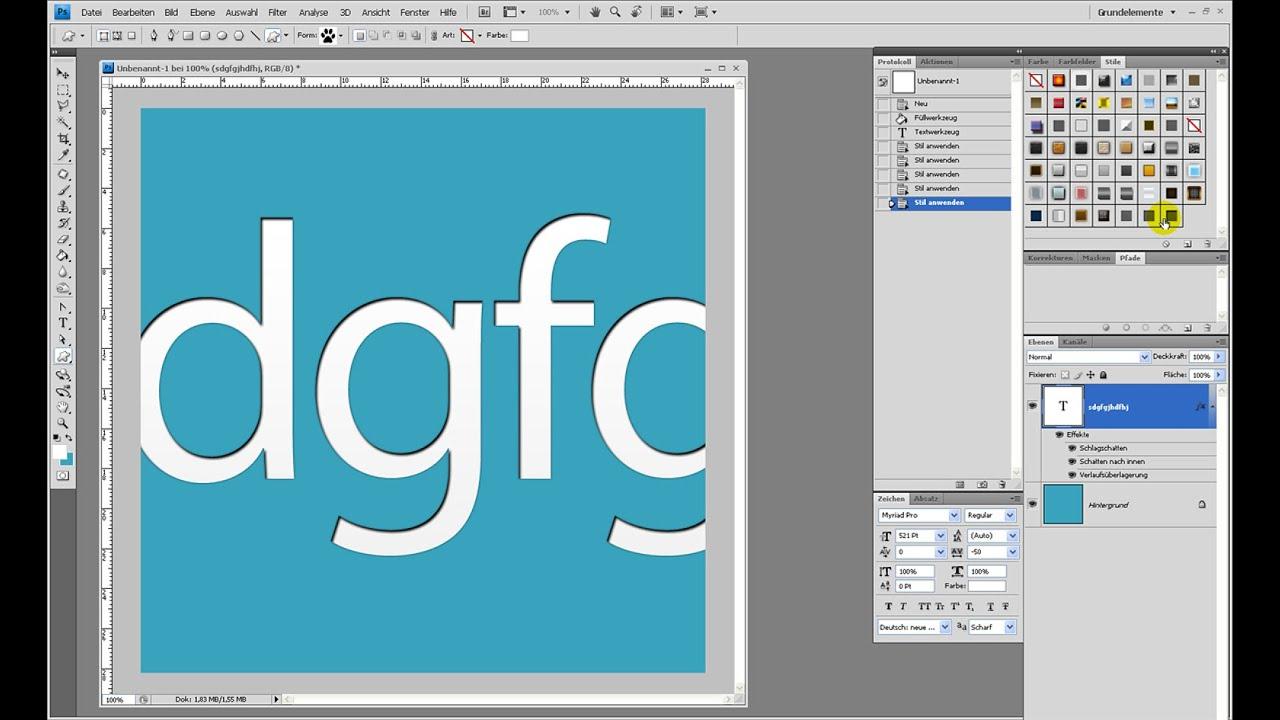 Letterpress erstellen – Photoshop-Tutorial