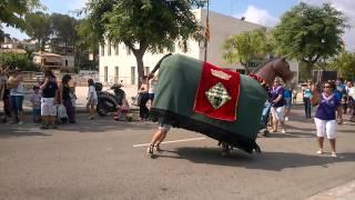 preview picture of video 'Mulassa dels Pallaresos a la festa major Els Pallaresos (1) (06-08-2014)'