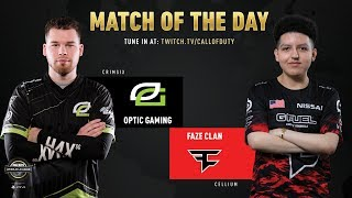 Optic Gaming vs FaZe Clan | CWL Pro League 2019 | Division A | Week 7 | Day 3