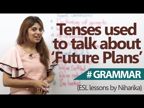Tenses Used to Talk About 'Future Plans'