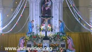 Christmas prayers at St Joseph's church, Palayam