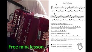 How to play Irish music on the button accordion for beginners (free sheet music)   Accordion Doctor