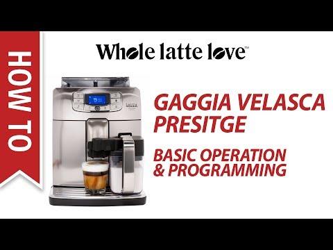 , Gaggia RI8263/47 Velasca Prestige Espresso Machine, Stainless Steel