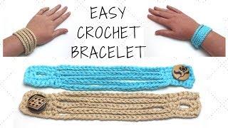 Easy Crochet Bracelet - Crochet Boho Cuff Bracelet