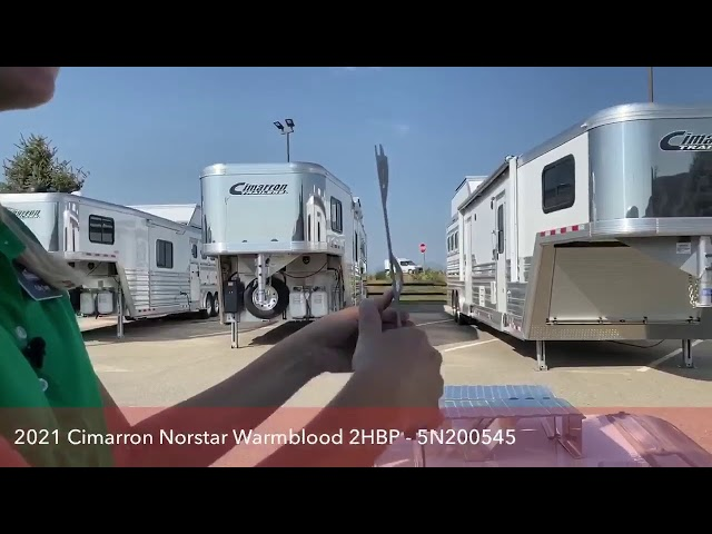 Transwest Truck Trailer RV Live with a 2021 Cimarron Norstar Warmblood 2 Horse Bumper Pull