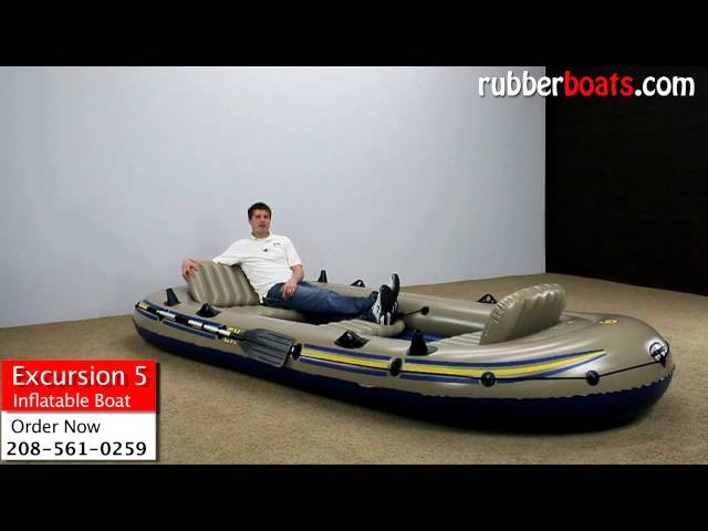 Intex Excursion 5 Inflatable Boat Video Review by Rubber Boats