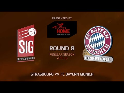 Highlights: RS Round 8, Strasbourg 69-82 FC Bayern Munich