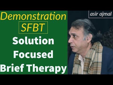 Demonstration of Solution Focused Brief Therapy (Urdu/Hindi ...