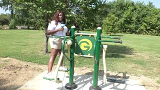 Outdoor exercise equipment is added to a local park