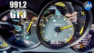 Porsche 991.2 GT3 (4.0) - 0-300 km/h acceleration🏁 | Kholo.pk
