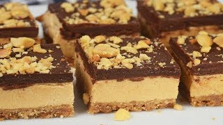 Chocolate Peanut Butter Bars Recipe Demonstration - Joyofbaking.com