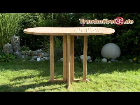 Balkonklapptisch Gartentisch in Teak oder FSC Akazie