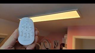 LED Deckenleuchte Panel 120x30 cm - Fernbedienung - 12 Dimmstufen - 2.700 - 6.500 Kelvin