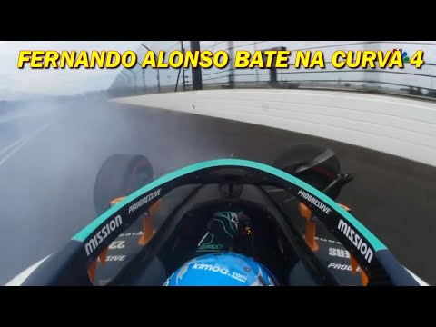 Image: Alonso hits hard during training for the Indy 500