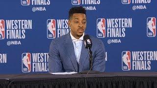 CJ McCollum postgame reaction   Warriors vs Blazers Game 4   2019 NBA Playoffs