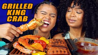 GRILLED KING CRAB MUKBANG + XMAS WHO IS MORE LIKELY CHALLENGE