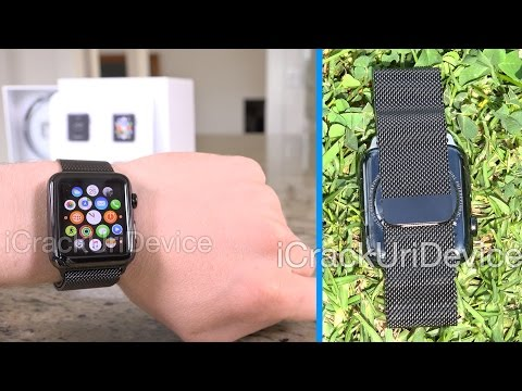 Apple Watch Unboxing (SPACE BLACK Milanese Loop) – New Color Review