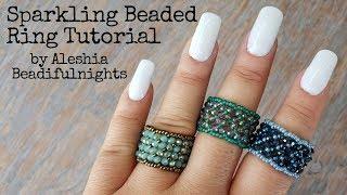 Sparkling Beaded Ring Tutorial