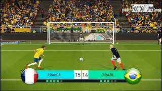PES 2018 | FRANCE vs BRAZIL | Penalty Shootout | Mbappe vs Neymar | Gameplay PC