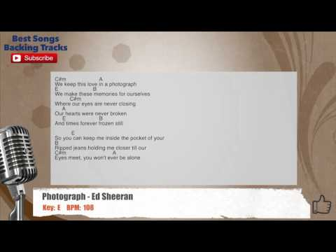 Photograph - Ed Sheeran Vocal Backing Track with chords and lyrics