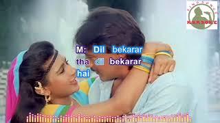 Dil Bekarar Tha Hindi karaoke for Male singers with lyrics