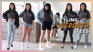 HOW TO STYLE: Oversized Graphic Tee | My Shirt Tuck Hack! // Christine Le