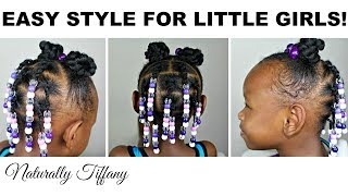 Quick Style For Little Girls W/ Awkward Lengths | Kids Natural Hair Care