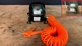 Amazing , How to make Homemade Silent Air Compressor from old Refrigerator's Compressor At home 2020