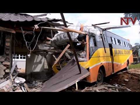 Bus loses control, rams into house in Kalungu