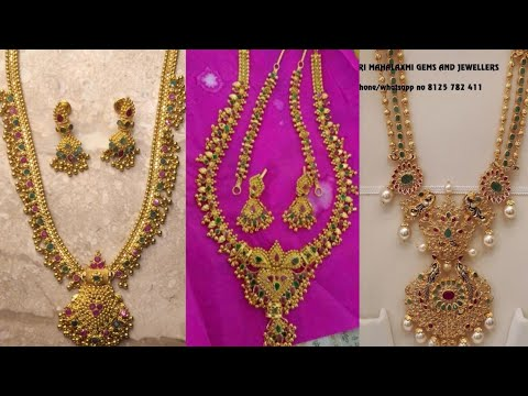 Latest Gold Necklace Designs Below 20 grams||Light weight Gold Necklace Models