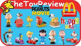 2015 The Peanuts Movie McDonalds Happy Meal Toys COMPLETE 12 Unboxing by the ToyReviewer