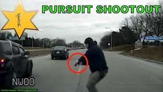 Police chase shootout, part 1