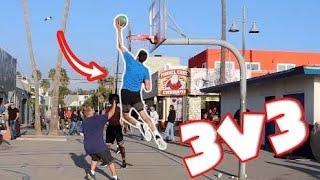 Dunking On Random Hoopers At Venice Beach! (ft. AJ Lapray & Chris Staples)