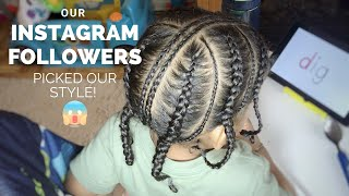 TODDLER BOY HAIRSTYLES 15    INSTAGRAM FOLLOWERS CHOSE THIS!    #PROTECTIVESTYLE #POPSMOKEBRAIDS