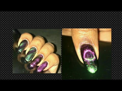 DIY CAT EYE NAIL ART MAGNET/cat Eye Nails 5 Different Methods/Beautybeam86