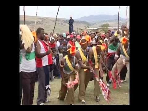 Traditional African dancing in the Lesotho Mountains