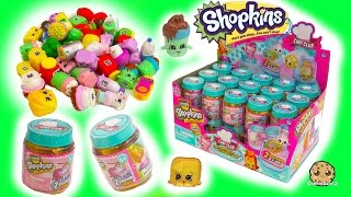 Full Box Shopkins Season 6 Chef Club Surprise Blind Bag Mystery Jars - Toy Video