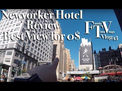 NYC Manhattan Wyndham New Yorker Review Best View 300 Dollar Room  FTV vlog 43
