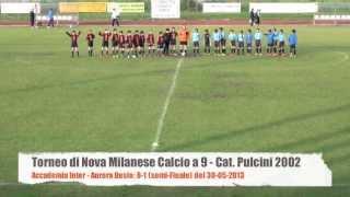 preview picture of video 'Torneo di Nova Milanese: Accademia Inter - Aurora Desio: 8-1 del 30-05-2013'