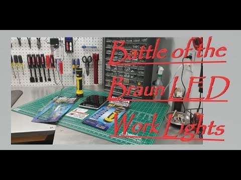 A New Braun LED Work Light Battle Of The Harbor Freight Braun Lights Play