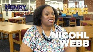 Nicohl Webb - 2018 HCS Hero - School Counselor OTY