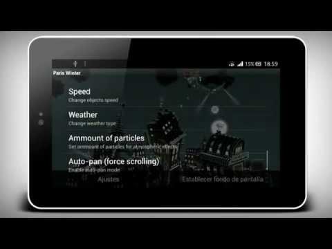Video of Paris winter LWP