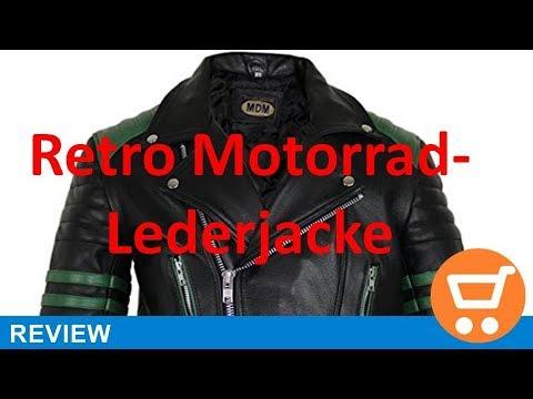 Retro Motorrad Lederjacke 80´s oldschool in verschieden Farben erhältlich Review | deutsch / german