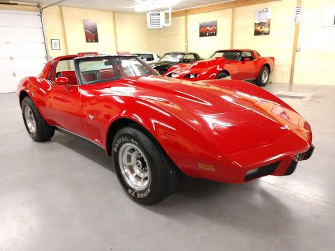 1979 Red Corvette L82 Hot Rod Automatic Red Leather Int Video